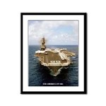 USS AMERICA Framed Panel Print