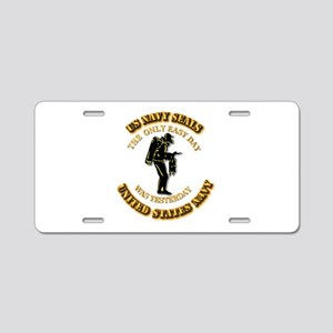 Navy - SOF - The Only Easy Day Aluminum License Pl