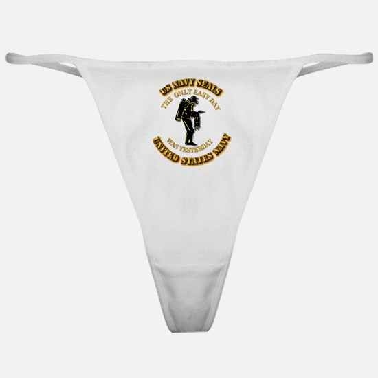 Navy - SOF - The Only Easy Day Classic Thong