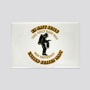 Navy - SOF - The Only Easy Day Rectangle Magnet