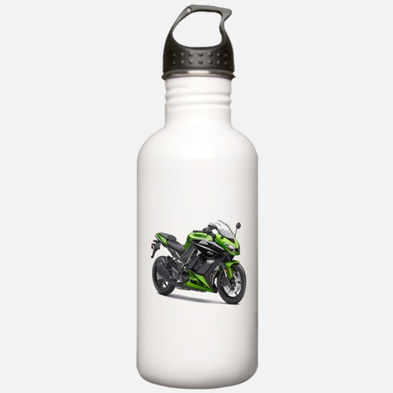Funny Green bike Water Bottle