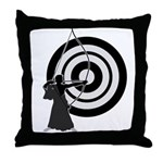 Kyudo3 Throw Pillow