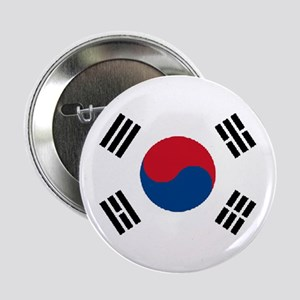 South Korea World Flag Badge / Button