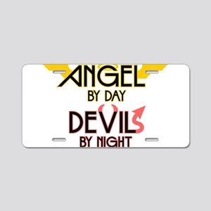 Angel by Day, Devil by Night Aluminum License Plat