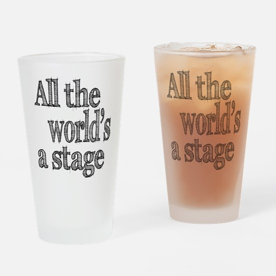 All the World's a Stage Drinking Glass