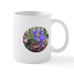 Blue Shade Anemone Flower Mug