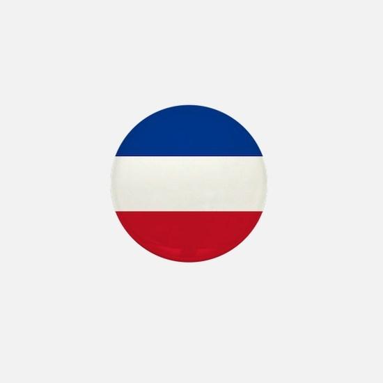 """Serbia & Montenegro World Flag 1"""" Mini Button"""