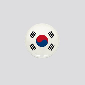 "South Korea World Flag 1"" Badge / Mini Button"