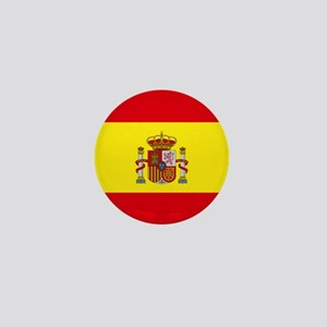 "Spain World Flag 1"" Badge / Mini Button"
