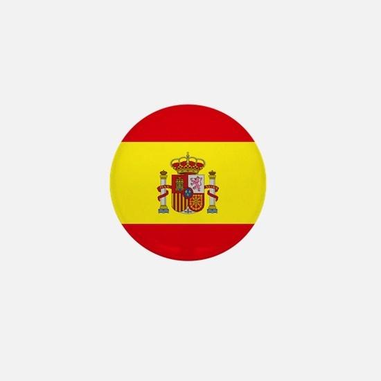 """Spain World Flag 1"""" Badge / Mini Button"""