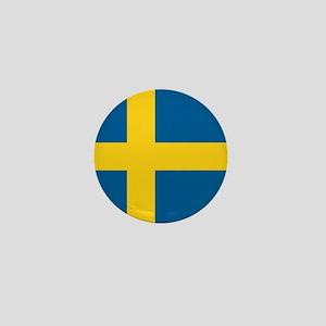 "Sweden World Flag 1"" Badge / Mini Button"