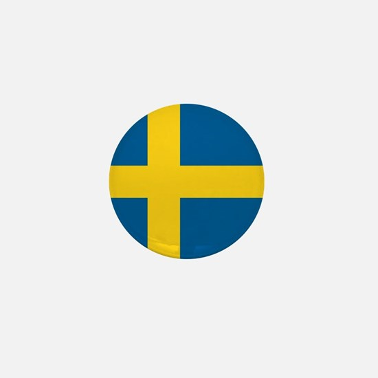"Sweden World Flag 1"" Badge / Mini Button"