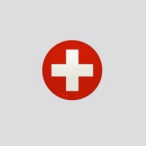 "Switzerland World Flag 1"" Badge / Mini Button"