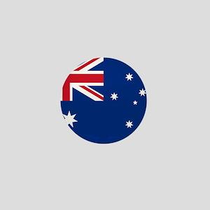 """Australia World Flag 1"""" Badge / Mini Button"""