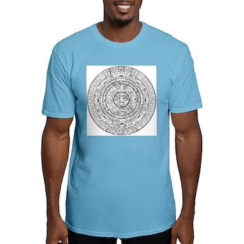 Aztec Sun Stone Calendar Fitted T-Shirt