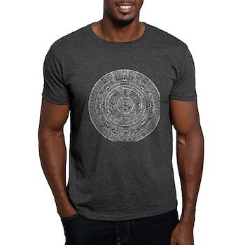 Aztec Sun Stone Calendar Dark T-Shirt