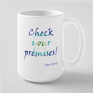 Check Your Premises Large Mug
