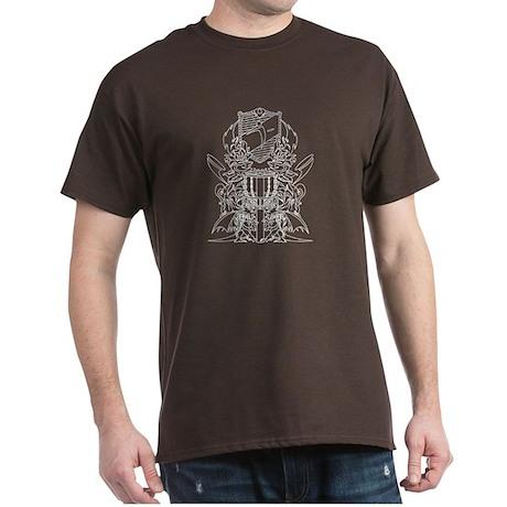 Black/White Disc Golf Coat of Arms Dark T-Shirt