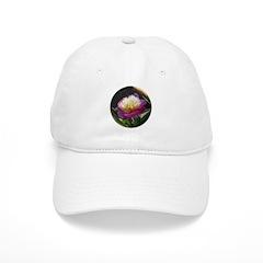 White and Pink Peony Baseball Cap