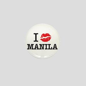 """I (muah) MANILA"" Mini Buttons"