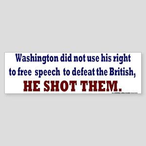 George Washington Persuation Sticker (Bumper)