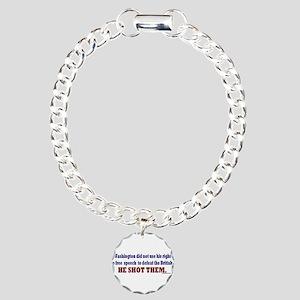 George Washington Persuation Charm Bracelet, One C