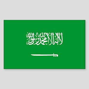 Saudi Arabia World Flag Bumper Sticker
