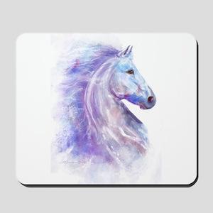 Snow Horse Mousepad