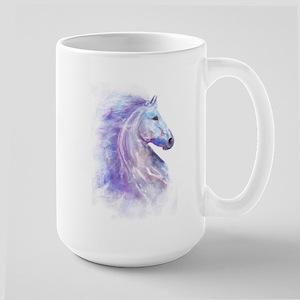 Snow Horse Large Mug