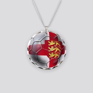 Three Lions Football Necklace Circle Charm