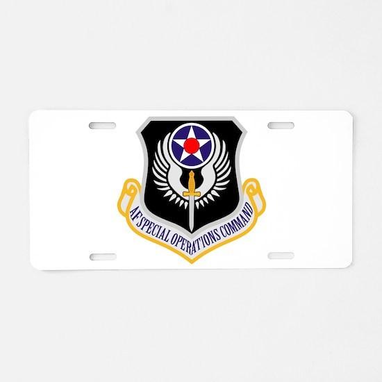AF Spec Ops Command Aluminum License Plate
