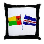 Cape Verde Flags Throw Pillow