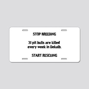 Dekalb Pit Bulls Aluminum License Plate
