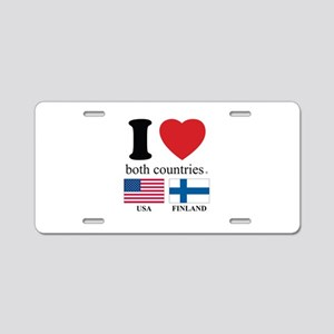 USA-FINLAND Aluminum License Plate