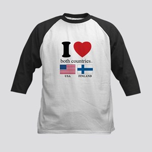 USA-FINLAND Kids Baseball Jersey