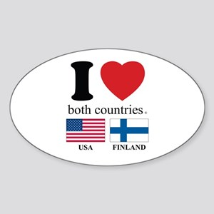 USA-FINLAND Sticker (Oval)