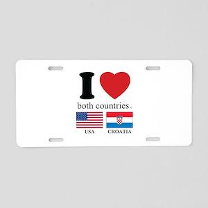 USA-CROATIA Aluminum License Plate