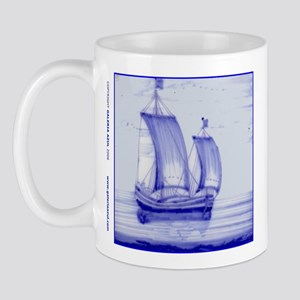 Blue Ship Tile: Mug