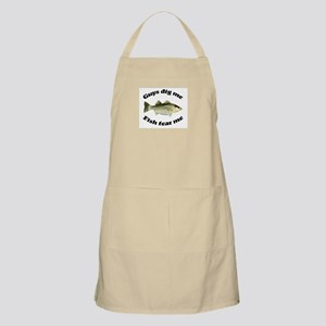 Guys dig me, fish fear me BBQ Apron