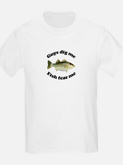 Guys dig me, fish fear me Kids T-Shirt
