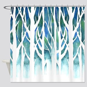 Winter Silhouette Shower Curtain