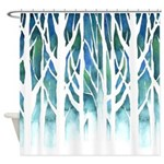 Winter Silhouette Shower Curtain