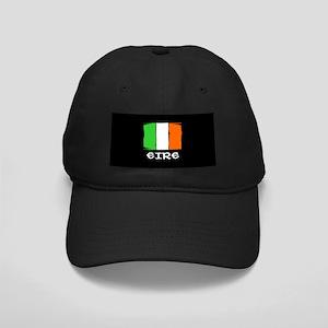 Eire Irish Flag Black Cap