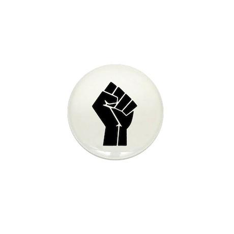 Black Fist Mini Button