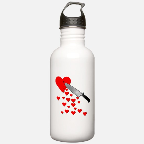 Lacerated Heart Anti-Valentines Day Water Bottle