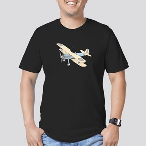 Stearman PT-17 Bi-Plane Men's Fitted T-Shirt (dark