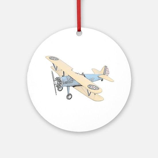 Stearman PT-17 Bi-Plane Ornament (Round)