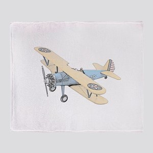 Stearman PT-17 Bi-Plane Throw Blanket