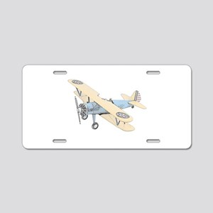 Stearman PT-17 Bi-Plane Aluminum License Plate