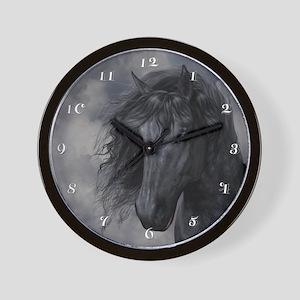 Black Horse Wall Clock